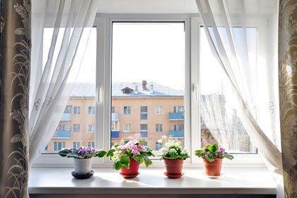 Планировка дома с большими окнами
